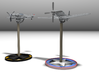 P51D Mustang stand,1/56 scale,28mm wargames 3d printed Get the Mustang and BF109 kit on Shapeways