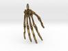 Hand bones with loop 3d printed