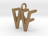 Two way letter pendant - FW WF 3d printed