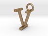 Two way letter pendant - IV VI 3d printed