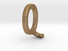 Two way letter pendant - JQ QJ 3d printed