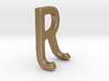 Two way letter pendant - JR RJ 3d printed