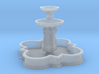 Barbed quatrefoil fountain (N 1:160) 3d printed