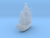 Galleon Earrings or Necklace 3d printed