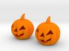 Halloween Pumpkin earrings (set - 2pcs) 3d printed