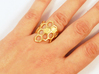 Honeycomb Ring 3d printed Polished Gold