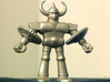 """M.U.S.C.L.E.-style """"Baby"""" Gin Gin 3d printed Gin Gin in stainless steel!"""