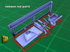 IDF 30cal MG-Window mount (1:35) 3d printed M2/M3 IDF MG window mount - printed