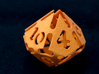 Big die 10 / d10 28mm / dice set 3d printed d10 orange