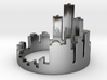 (Size 8) Detroit Skyline Ring 3d printed
