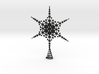 Sparkle Snow Star - Fractal Tree Top - HP2 - L 3d printed