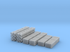 Various Flat Cars Loads Pipe Z Scale 3d printed 3 various types of flat car loads Z scale