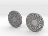 Round Knot Cufflinks 3d printed