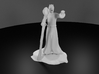 Dragonborn Wizard in Robes with Staff 3d printed 3D Render