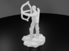 Half-Elf Bard Historian with Shortbow and Lute 3d printed 3D Render