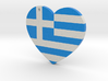Greek Flag Heart with hole 3d printed