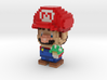 Super Plumber Red Bro Voxel Minifig 3d printed