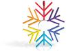 Snowflake Rainbow 3d printed