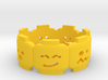 Yellow Brick Head Mood Ring 3d printed