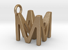 Two way letter pendant - MM M 3d printed