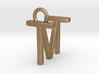 Two way letter pendant - MT TM 3d printed