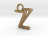 Two way letter pendant - VZ ZV 3d printed