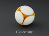 LuminOrb 2.4 - GENEROSITY 3d printed Photograph of GENEROSITY in Full Color Sandstone