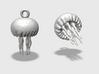 Small Customizable Jellyfish Ornament  3d printed