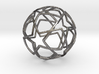 iFTBL Ornament / Star Ball - 40 mm 3d printed  Polished Nickel Steel / For other materials and prices... please click on material icons.