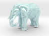 Porcelain Poly Elephant 3d printed