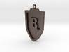 Medieval R Shield Pendant 3d printed