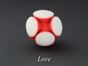 LuminOrb 1.1 - LOVE 3d printed Photograph of LOVE in Full Color Sandstone