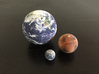 Earth, Moon & Mars to scale 3d printed