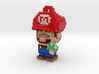 Super Plumber Red Bro Voxel Ornament 3d printed