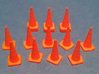 1/50 Traffic Cones 3d printed Printed and separated cones.