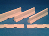 1/50 Jersey Barrier (10 ft/3m) [3 Pack] 3d printed Printed barriers and blanking plates.