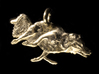 "Agility Dog Pendant 1.17 "" (2.98cm) Border Collie. 3d printed 18k Gold Plated, PHOTO.."