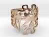 Gye Nyame Hearts Ring 3d printed