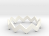 Zig Zag Wave Stackable Ring Size 7 3d printed
