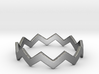 Zig Zag Wave Stackable Ring Size 11 3d printed