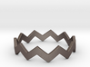 Zig Zag Wave Stackable Ring Size 10 3d printed