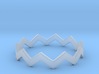 Zig Zag Wave Stackable Ring Size 12 3d printed