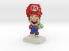 Super Plumber Red Bro Pixel Figurine 3d printed