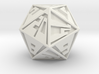 Vanishing Point d20, Solid 3d printed