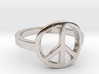 Peace Ring Size 5.5 3d printed
