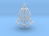 Customizable Holiday Bell Ornament 3d printed