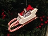 Candy Cane Sleigh 3d printed