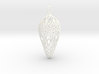 Small Lace Teardrop Ornament 3d printed
