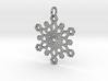 Snowflake Mandala Pendant 3d printed
