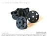 RC Wheel to Technic 3 Pin Adapters x4 Heavy Duty 3d printed
